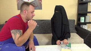 Contractor fucks Muslim bitch as compensation